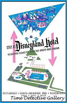 Available in 5 Sizes Vintage Disneyland Greyhound Bus Travel Poster