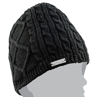 Arctic Cat Black Sequins Knit Polyester Acrylic Beanie - Black - 5273-093