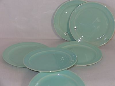 Vintage Luray LuRay Pastels China Green Bread & Butter Plates (6)