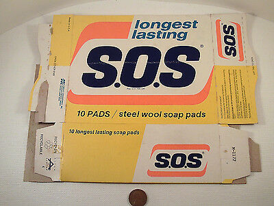 "Original 1970's-vintage (Paperboard) ""Miles Laboratories ~ S.O.S."" (empty) Box!"