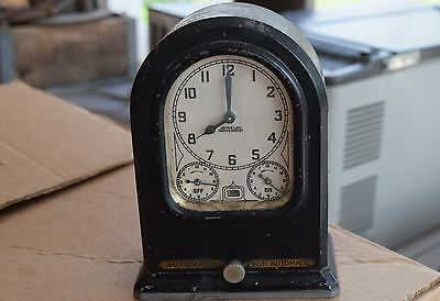 Vintage Lux Automatic Oven Range Timer Clock Model 86 Jeweled movement STEAMPUNK