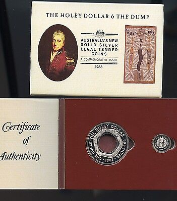 Australia 1988 HOLEY DOLLAR and DUMP - Silver 2 coin set