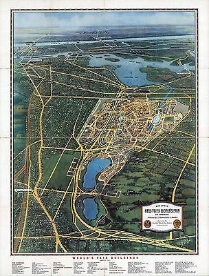 1939 pictorial map lof the New York World's Fair and Approaches POSTER 8806003