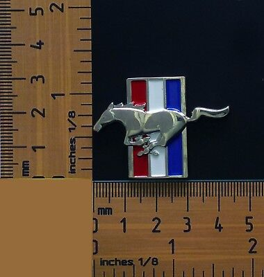 Ford Mustang Pony On 3 Coloured Bars Quality Metal Lapel Pin / Badge
