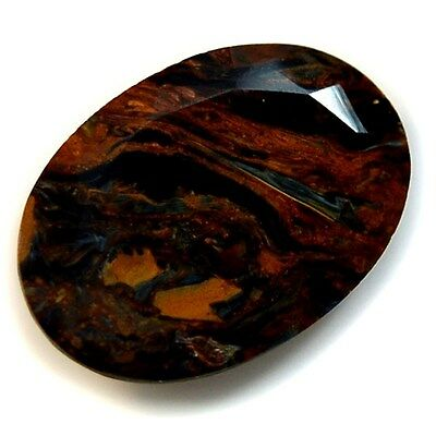Natural Fine Pietersite Oval Faceted Collection
