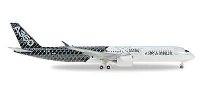 Herpa Wings Airbus A350-900 House Carbon Livery 1/500 Die-Cast He528801-001