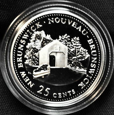 1992 Canada 25 cents Proof Silver Coin - New Brunswick