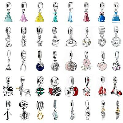 European Pendant Charms Bead Dangle Fit 925 Silver Sterling Bracelets Necklace
