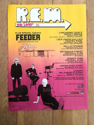 R.E.M 2005 UK Tour magazine ADVERT / Poster 11x8 inches
