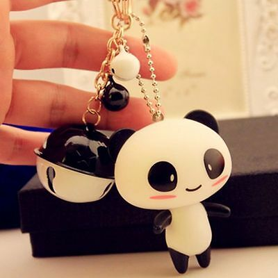 Cartoon Gift 3D Car Panda Silicone Key Ring Keychain Bag Pendant Phone Straps