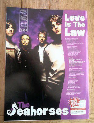 SEAHORSES (Stone Roses) Love Is Law lyrics magazine PHOTO/clipping 11x8 inches