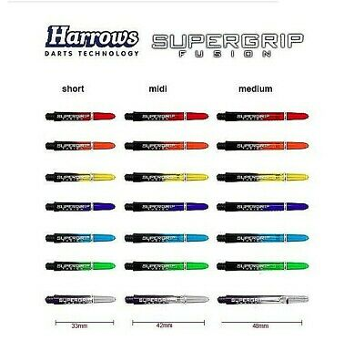 Harrows Schaft,Supergrip Fusion Dart-Shafts, Schäfte, 33mm,40mm,48mm