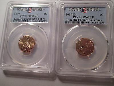 2009  P&D   SP68RD  LINCOLN CENTS FORMATIVE YEARS Satin Finish