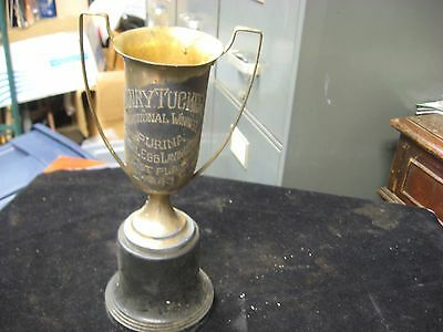 Vintage 1943 1st Place Purina National Egg Laying Contest Winner Trophy 11""