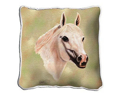"17"" x 17"" Pillow - White Arabian 2366"