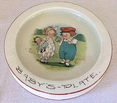 Grace Drayton Dolly Dingle / Campbell Kids Antique Child Baby's Plate Dish Bowl