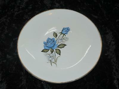 Vintage Replacement China Side Plate Burleigh Ware BLUE ROSE 1960s