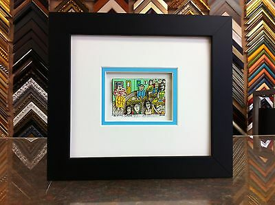 "James Rizzi 3-D "" School Daze "" Signed & Numbered 2002 Mini Framed"