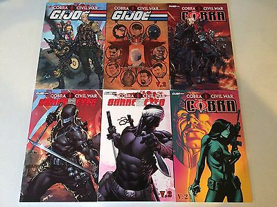 Cobra Civil War set of 6 IDW graphic novels SnakeEyes GI Joe NM condition