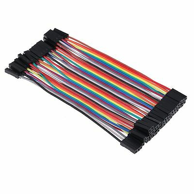 40PCS / Row Female to Female Color Dupont Wire Jump Cable For Arduino Breadboard