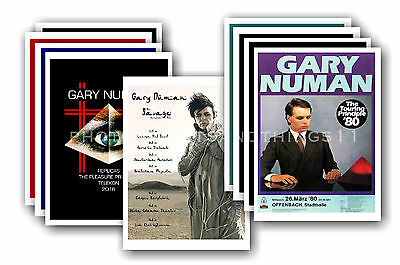 GARY NUMAN - 10 promotional posters - collectable postcard set # 6