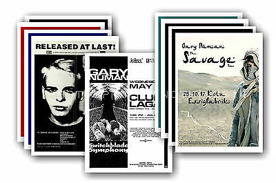 GARY NUMAN - 10 promotional posters - collectable postcard set # 7