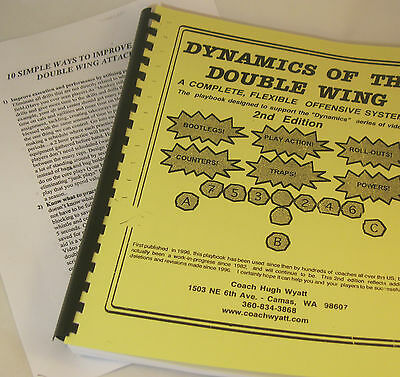 FOOTBALL COACH Coaching DOUBLE WING PLAYBOOK Offense 114 pages BEST SYSTEM Wyatt
