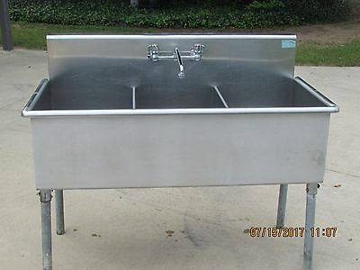 Advance - Stainless Steel - 3 Compartment Utility Sink