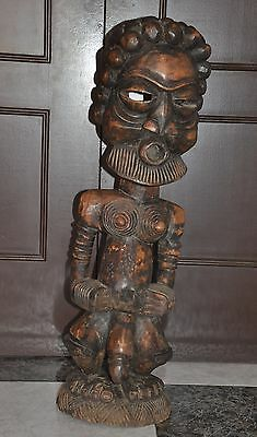 Ancestor   Guardian  Reliquary  ,  Africa   ,  Large Figure African Carved
