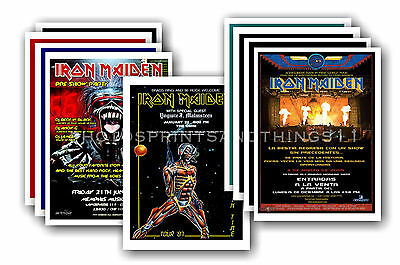 IRON MAIDEN - 10 promotional posters - collectable postcard set # 1