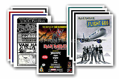 IRON MAIDEN - 10 promotional posters - collectable postcard set # 3