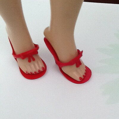 """10"""" Little Miss Revlon Jill Coty And Friends Light RED Bow Doll Shoes"""