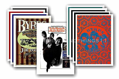 THE BYRDS  - 10 promotional posters - collectable postcard set # 1