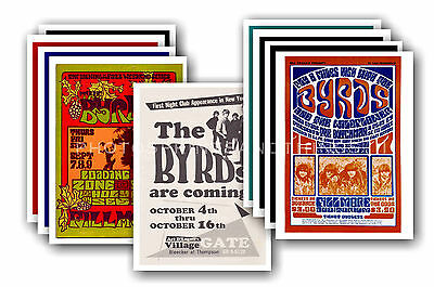 THE BYRDS  - 10 promotional posters - collectable postcard set # 2