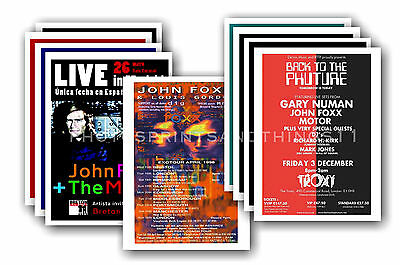 JOHN FOXX  - 10 promotional posters - collectable postcard set # 1