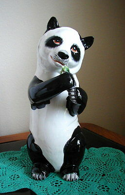 13 Inch Tall Panda Bear Figurine Made In Italy - Vintage and Unique