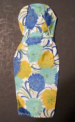 Vintage Barbie Size Floral Silk Sheath Poss Babs Candlelight? Very Nice