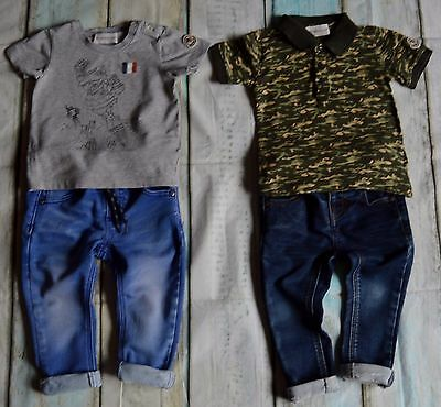 Moncler Next Baby Boys Designer Clothes Bundle 9-12 Months Polo T-shirt Jeans