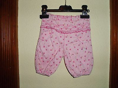Name It Pink Girls Corduroy Floral Trousers Size 2 Months