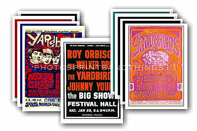 THE YARDBIRDS  - 10 promotional posters - collectable postcard set # 1