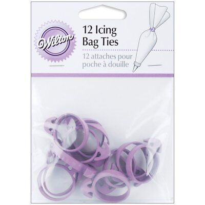 Wilton New Decorating Cake Icing Bag Ties Set Of 12 Purple Squeeze Out Icing
