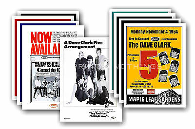 DAVE CLARK FIVE  - 10 promotional posters - collectable postcard set # 2