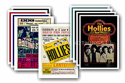 THE HOLLIES  - 10 promotional posters - collectable postcard set # 1