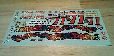 70 71 Ford Torino Cobra AMT 1/25 Reproduction Decal Sheet