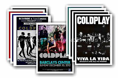 COLDPLAY - 10 promotional posters - collectable postcard set # 1