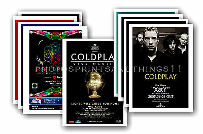 COLDPLAY - 10 promotional posters - collectable postcard set # 2