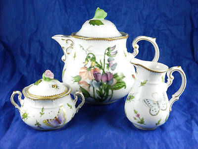 Extremely Rare ANNA WEATHERLEY Spring in Budapest Sweet Pea 3 Piece Tea Set