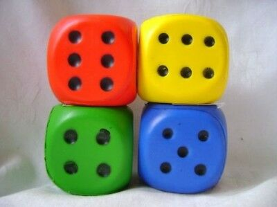 New Extra Large Pu Foam Die Dice 6Cm Blue Red Yellow Green Single Or Set Gworks