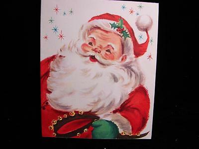 """Vintage """"santa With Best Wishes!!"""" Christmas Greeting Card"""