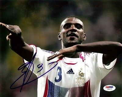Eric Abidal Authentic Autographed Signed 8x10 Photo Barcelona PSA/DNA